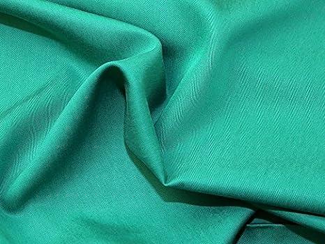 2290ef4202 Plain Poly twill di viscosa abito tessuto verde smeraldo - al metro ...