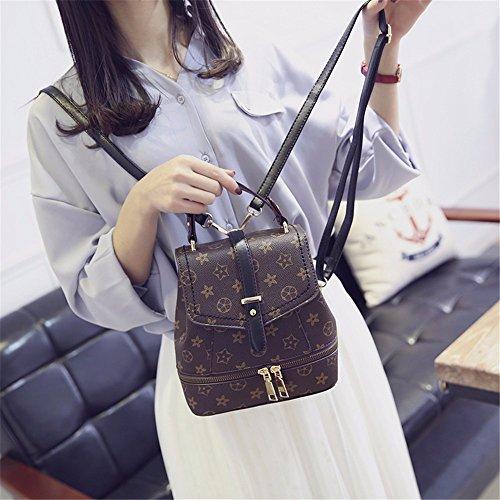 MSZYZ Damenmode Tasche, Frauen Mini, Multi, lässig und einfache Tasche, Schwarz/b