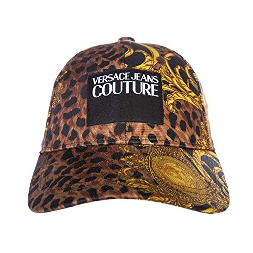 Versace Jeans Couture Leo Baroque Print Cap in Black & ()