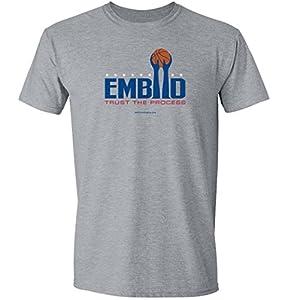 "Embiid Philadelphia ""Trust the Process"" - Short Sleeve T Shirt - Sport Gray"