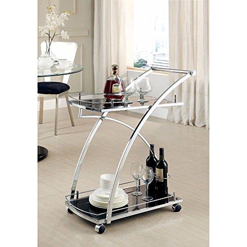 Furniture of America CM-AC227 Serra Serving Cart Kitchen Islands by Furniture of America