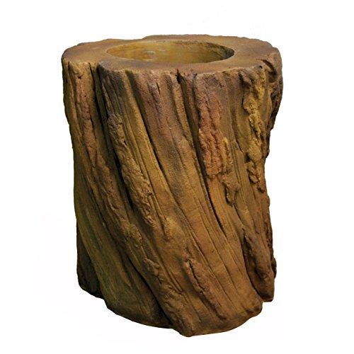 OrlandiStatuary Log Planter Statue, Sandstone