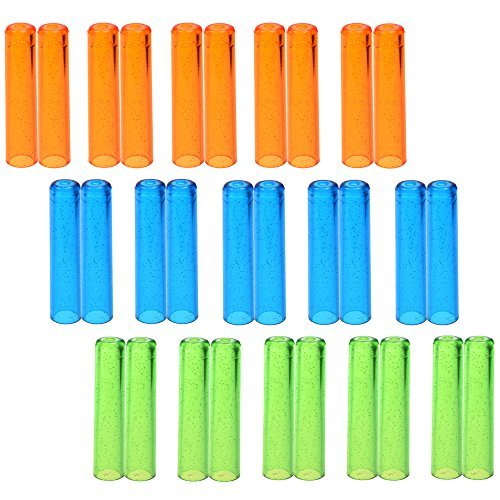 KLOUD City® Pack of 30 Assorted Colors Plastic Pencil Cap Pencil Shield Pencil Extender - Lead Hi Ltd Polymer