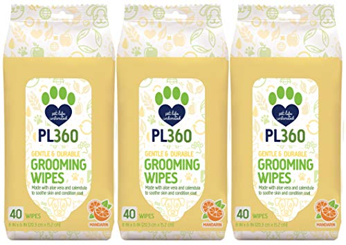 PL360 Dog Grooming Wipes, Mandarin, 120Count