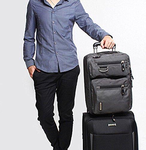 Bronze Times (TM) 17.3 Inch Business Travel Gear Laptop Shoulder Bag Backpack (Black) by Bronze Times (Image #8)