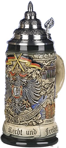 Beer Steins By King - Deutschland German Coat of Arms Beer Mug 0.5l Rustic by KING