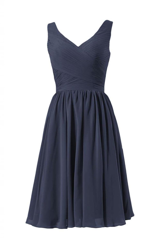 DaisyFormals Short Deep V-Neckline Bridesmaid Dress Party Gown w/Straps(BM5196S)