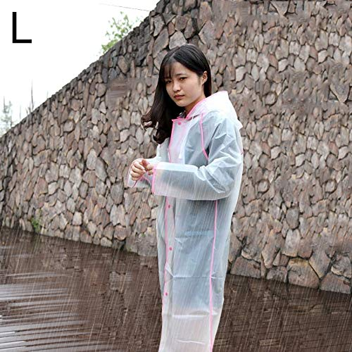 Dig dog bone Simple Male and Female Students Single Transparent Frosted Raincoat (Size : Og0312f)