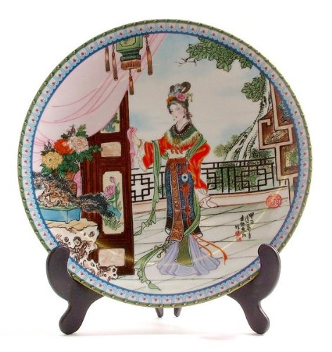 Beauties Of The Red Mansion (Beauties of the Red Mansion plate Hsi-Feng or Hsifeng by Zhao Huimin)