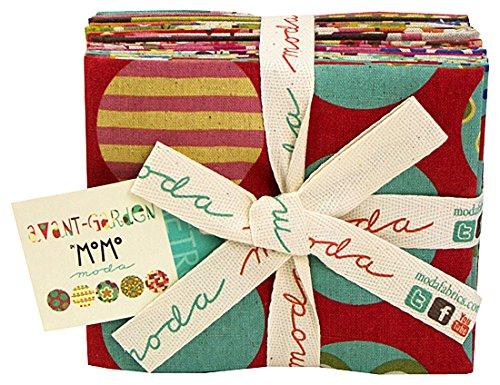 Moda AVANT-GARDEN LINEN Fat Quarters 9 Precut Cotton Fabric Quilting FQs Assortment 16120ABL MoMo Avant Garden