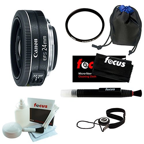 Canon EF-S 24mm f/2 8 STM Fixed Lens Bundle with Tiffen 52mm UVP and Deluxe Accessoriesの商品画像