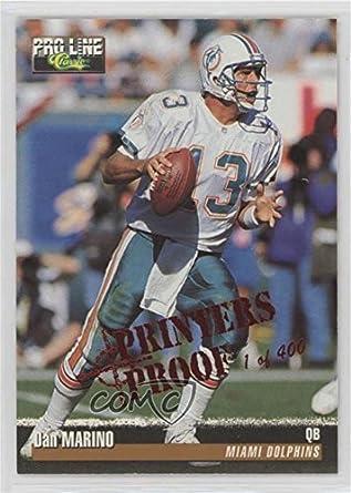 13dce8fde Amazon.com  Dan Marino   400 (Football Card) 1995 Classic Pro Line -  Base   - Printers Proof  122  Collectibles   Fine Art