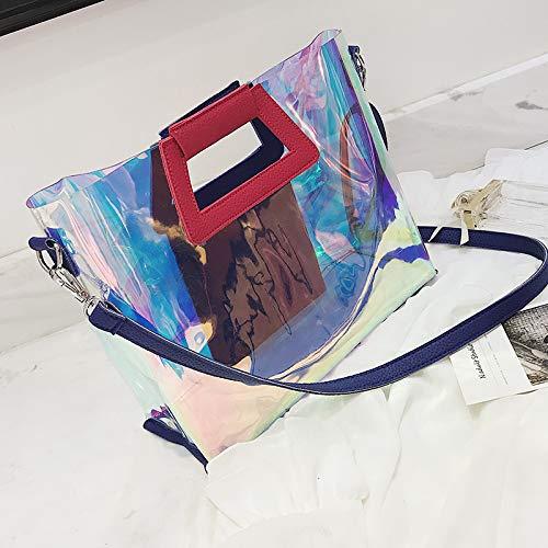 Borsa della marea coreana trasparente a tracolla estate laser borsa moda versione WSLMHH borsa nero grande femminile personalità colore selvaggia dISp0qyx