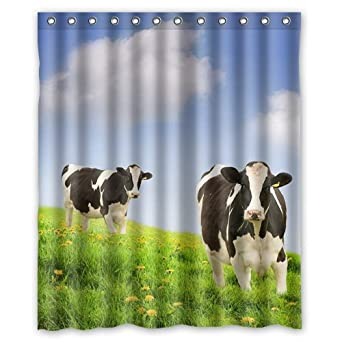 Amazon Custom Prairie Milk Cow Shower Curtain 60 X 72 Inch Bath