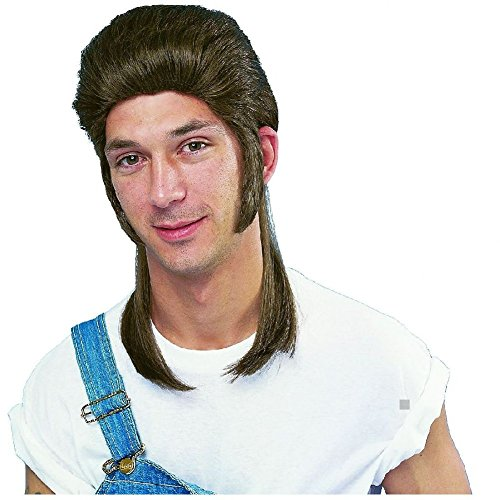 Mullet Wig Redneck Hillbilly Funny White Trash Costume Halloweeen Fancy (Funny Halloweeen Costumes)