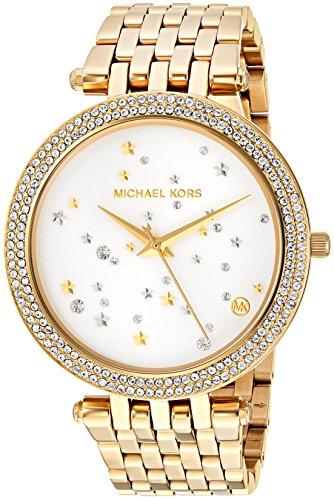 Watch Color Crystal Links Gold (Michael Kors Women's 'Darci' Quartz Stainless Steel Casual Watch, Color:Gold-Toned (Model: MK3727))