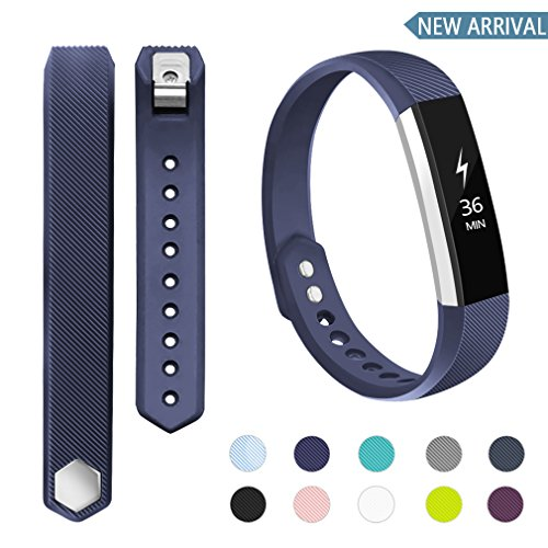 POY Compatible Bands Replacement for Fitbit Alta/Fitbit Alta HR, Adjustable Sport Wristbands for Women Men (Small)