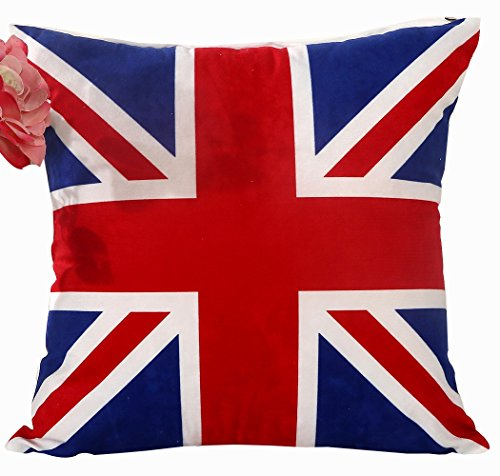 PenGreat The Union Jack British Flag Square Decorative Throw Pillow Case Cushion Cover 15