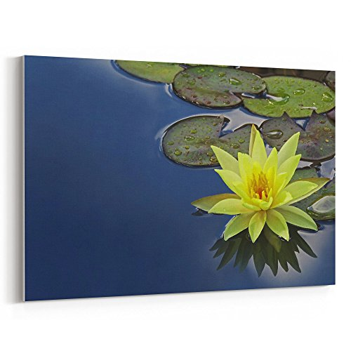 Bowl Flower Red Prayer (Westlake Art - Pad Lily - 24x36 Canvas Print Wall Art - Canvas Stretched Gallery Wrap Modern Picture Photography Artwork - Ready to Hang 24x36 Inch)