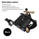 Qulable Tattoo Kit Pro Gun Machine Power Pedal 10 Color Ink Set Needle Grip Tip