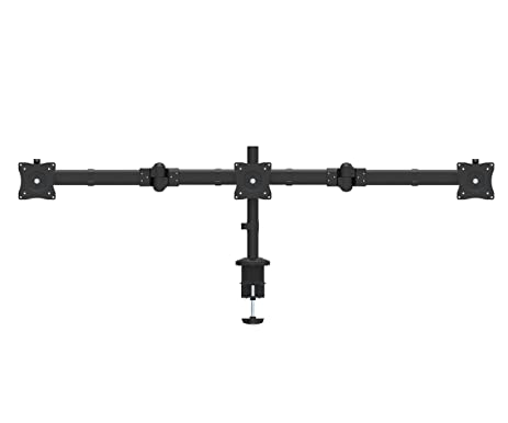 proht triple desk monitor mount 05328free standing fully adjustable lcd monitor mount