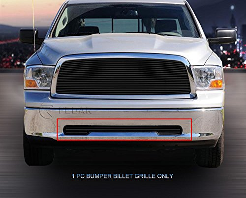 Fedar Tow Hook Billet Grille Insert for 2009-2012 Dodge Ram 1500 PU (ST/SLT/TRX/Laramie) (Ram Pu Billet Grille Insert)