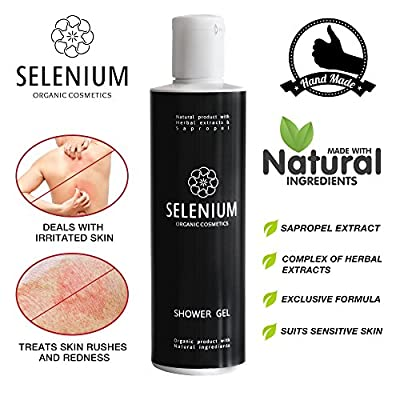 Shower Gel by Selenium - Natural Organic Body Wash with Sapropel Extracts Vitamins and Biological Stimulants for Everyday Use / 8,5oz from Selenium Professional Cosmetics