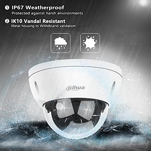 Dahua PoE IP Security Megapixels Super HD Surveillance Dome IPC-HDBW4631R-S 2.8mm Card Slot Weatherproof ONVIF