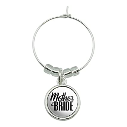 Amazon.com | Mother of the Bride Wedding Wine Glass Charm Drink ...