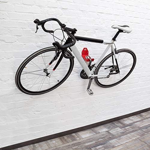 Relaxdays ペダル - 壁用ブラケット 自転車用 金属製 壁掛け 自転車 壁収納 10 x 14.5 cm レッド