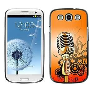 Paccase / SLIM PC / Aliminium Casa Carcasa Funda Case Cover para - Microphone Music Singing Retro Vintage - Samsung Galaxy S3 I9300