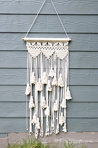Boho Makramee Wanddeko zum Aufhängen: Deko Art Wand Baumwolle Seil ...