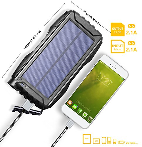 JETSUN-Solar-Charger-23650mAh-Portable-Solar-Power-Bank-with-Waterproof-Solar-Panel-and-Flashlight-for-iPhoneiPadAndroid-and-more
