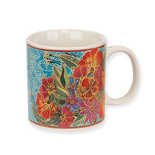 Laurel Burch Artistic Collection 14-ounce Mug, Flora