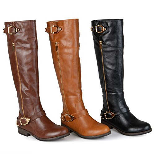 Brinley Co Womens Beth Riding Boot Regular & Wide Calf Chestnut Myo7PZrhs