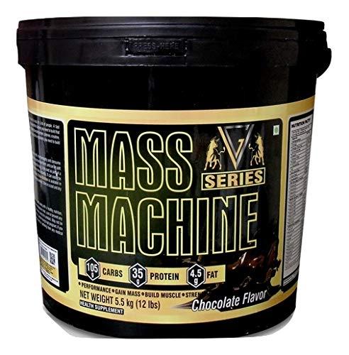 Vg Series Mass Machine High Protein Mass Gainer Supplement Powder Chocolate Flavor 5 5 Kg 12 Lbs Amazon In Health Personal Care
