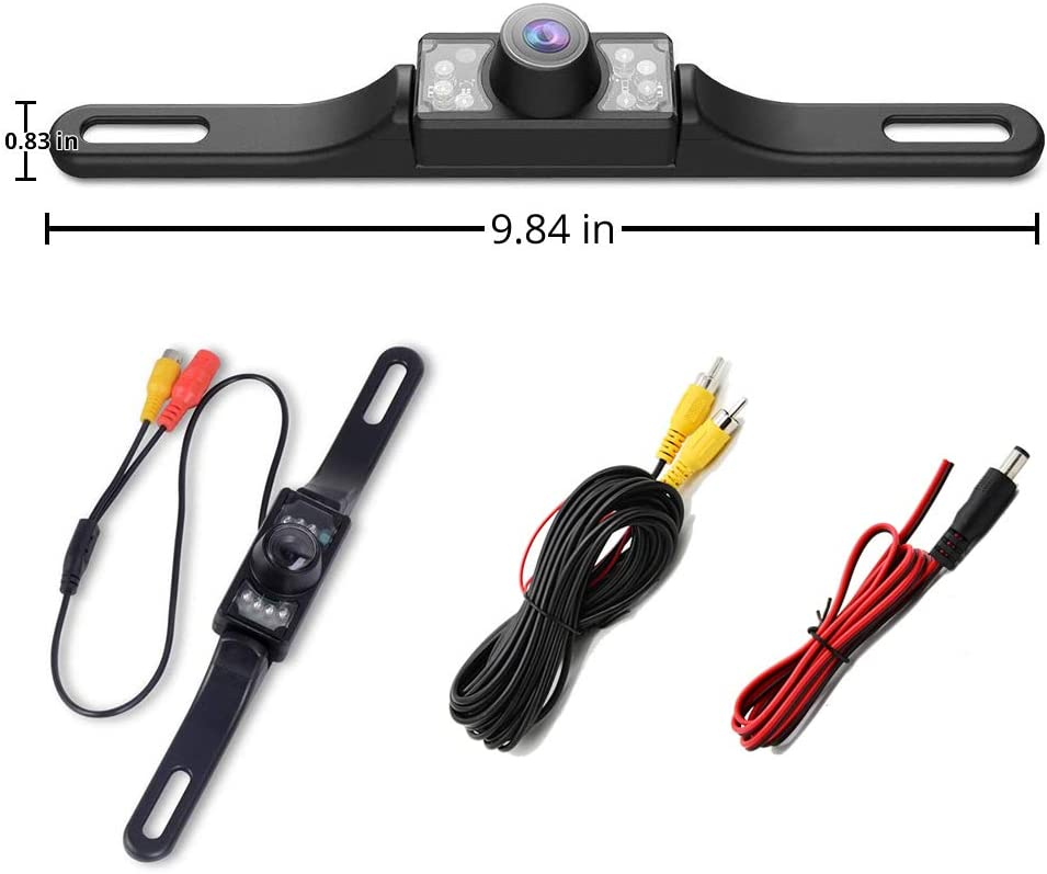 170/°Perfect View Angle 8 LED Lights Night Vision Waterproof for Car Trucks SUV RV Pickup Universal Vehicle Backup Camera