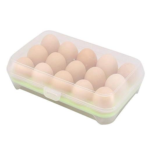 Bandeja de huevo de cocina de 2 piezas, bandeja de plástico ...
