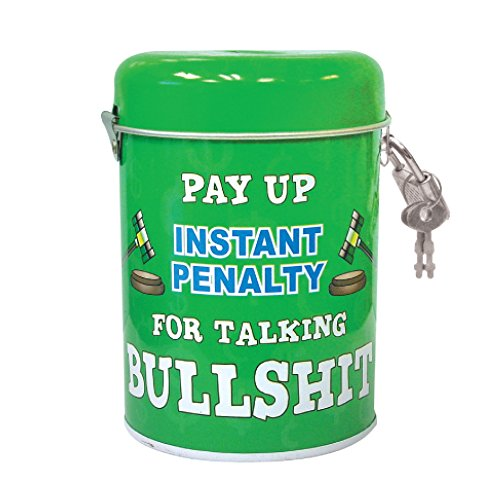 Bank Coin Bank Funny Instant Penalty for Talking Bullshit Metal Coin Money Bank with Lock and Key 3