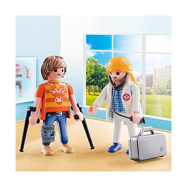 PLAYMOBIL- Duo Pack Duopack Doctora y Paciente, Multicolor (70079) 4