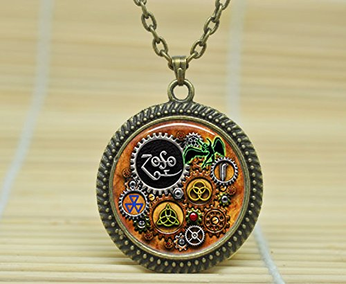 SunShine Day Fashion Necklace Led Zeppelin Steampunk Inspired Pendant Necklace Glass Cabochon Necklace - Inspired Fashion Steampunk