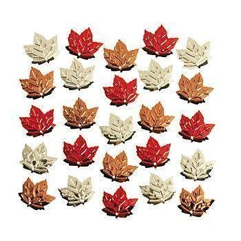- Foil Fall Leaf / Autumn Leaves Confetti ~ 2 Oz. ~ Approx. 3/4
