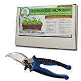 Harvest Bundle - Buddy Bags Co Multi-Purpose Turkey Oven Bags for Home and Garden & Hydrofarm Heavy Duty Shear