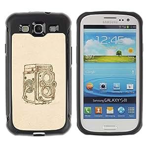 "Hypernova Defender Series TPU protection Cas Case Coque pour Samsung Galaxy S3 III I9300 [Hipster Vintage Retro Beige Foto""]"
