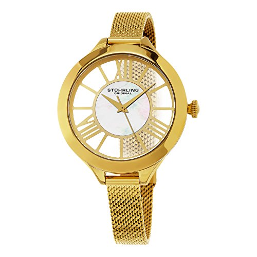 Stuhrling Original Women's 595.02 Winchester Gold-Tone Stainless Steel Watch