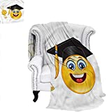 Best Bed  A Bag Sets   Students - YOLIKA Graduation Blanket Student Emoji with a Hat Review