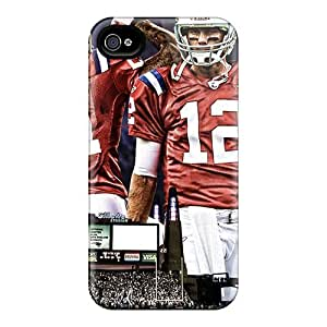 Case Cover For Apple Iphone 4/4S Cases Covers - Slim Fit Protector Shock Absorbent Cases (new England Patriots)