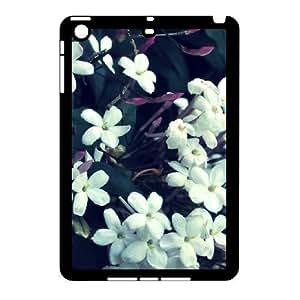 3D Case for IPad Mini 2D, Tiny White Flowers Case for IPad Mini 2D, Vinceryshop Black by supermalls