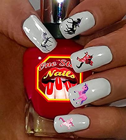 Amazon.com: Unicorn Nail Art Decals. Clear waterslide nail decals by One  Stop Nails: Beauty - Amazon.com: Unicorn Nail Art Decals. Clear Waterslide Nail Decals By
