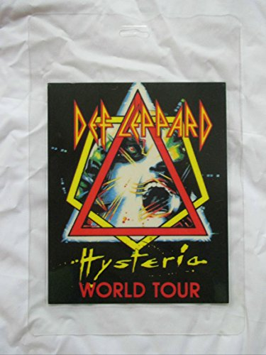1988 Def Leppard Laminated Backstage Pass Hysteria Tour Staff Large